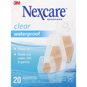 Nexcare Bandages, Assorted, Waterproof, Clear