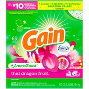 Gain Powder Laundry Detergent for Regular and HE Washers, Thai Dragon Fruit Scent