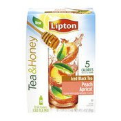 Lipton Tea & Honey Peach Apricot Iced Black Tea To-Go Packets 10 ct