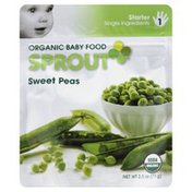 Sprouts Baby Food, Organic, Sweet Peas, Starter 1