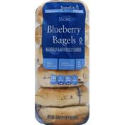 Signature Kitchens Bagels, Blueberry, Sliced