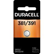 Duracell Battery, Silver Oxide, 381/391, SR55/SR1120W