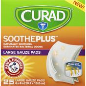 CURAD Gauze Pads, Large