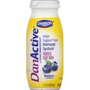 DanActive Light Probiotic Dairy Drink, Blueberry Flavored