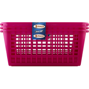Stor All Solutions Baskets, Multi-Purpose, Stackable, 3 Pack