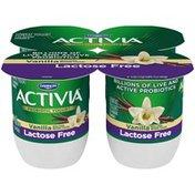 Activia Lactose-Free Probiotic Vanilla Yogurt