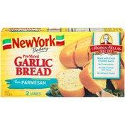New York Bakery Mamma Bella's Recipe Pre-Sliced Garlic Bread with Real Parmesan