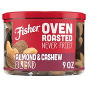 Fisher Oven Roasted Never Fried Almond & Cashew Blend with Sea Salt