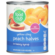 Food Club Yellow Cling Peach Halves In Heavy Syrup
