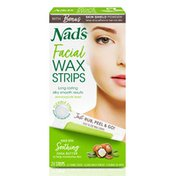 Nad's Facial Wax Strips with Soothing Shea Butter & BONUS Powder