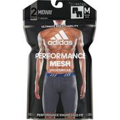adidas Underwear, Midway, Performance Mesh, Black, Medium (32-34)
