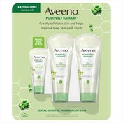 Aveeno Positively Radiant Skin Brightening Face Scrub, , Twin Pack And