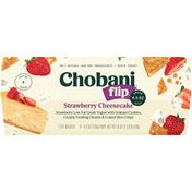 Chobani Low-Fat Greek Yogurt, Strawberry Cheesecake