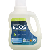 ECOS Laundry Detergent, Hypoallergenic, 4 in 1, Lemongrass