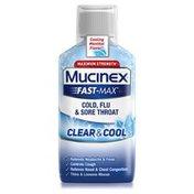 Mucinex® Fast-Max Clear & Cool Cold, Flu, & Sore Throat Liquid