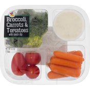 Ahold Broccoli, Carrots & Tomatoes, with Ranch Dip