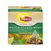 Lipton Melon Citrus Mint Caffeine Free Herbal Pyramid Tea Bags - 18 CT
