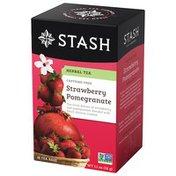 Stash Tea Tea, Herbal, Strawberry & Pomegranate, Caffeine Free, Box