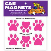 "Imagine This Mini Paws Car Magnet - Pink - 1-3/4"" x 1-3/4"""