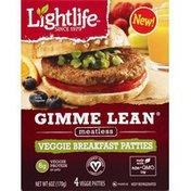 Lightlife Patties, Veggie, Breakfast, Meatless