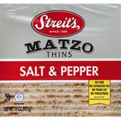 Streit's Matzo Thins, Salt & Pepper