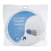 Whitmor Pop And Fold Double Hamper