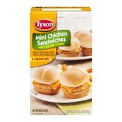 Tyson Mini Chicken Sandwiches with Cheddar Cheese - 8 CT
