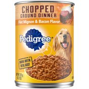 Pedigree Adult Canned Wet Dog Food Filet Mignon & Bacon Flavor