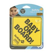 Safety 1st Baby On Board! Sign