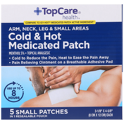 TopCare Arm, Neck, Leg & Small Areas Cold & Hot Menthol 5% - Topical Analgesic Small Medicated Patches