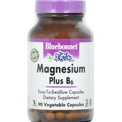Bluebonnet Magnesium Plus B6, Vegetable Capsules