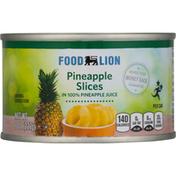 Food Lion Pineapple, in 100% Pineapple Juice, Slices