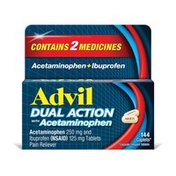 Advil Dual Action Pain Reliever Coated Caplets, Dual Action Pain Reliever Coated Caplets