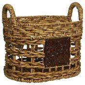Glory International Trading Baskets, Medium, with Ceramic Decor