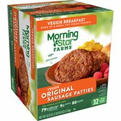 Morning Star Farms Meatless Sausage Patties, Plant Based Protein, Original