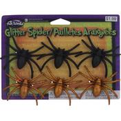 Fun World Glitter Spider, Black/Orange