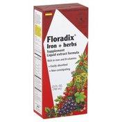 Flora Iron + Herbs, Liquid Extract Formula