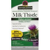 Nature's Answer Milk Thistle, Vegetarian Capsules