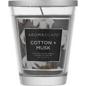 Aromascape Candle, Cotton + Musk