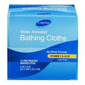 CareOne Water Activated Bathings Cloths Vitamin E & Aloe - 12 CT