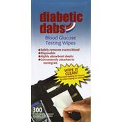 Diabetic Dabs Blood Glucose Testing Wipes