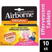 Airborne® Pink Grapefruit Effervescent Tablets - 1000mg of Vitamin C - Immune Support Supplement
