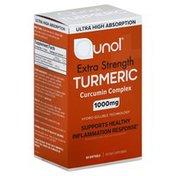 Qunol Turmeric, Curcumin Complex, Extra Strength, 1000 mg, Softgels