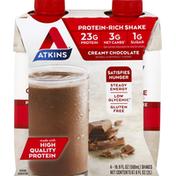Atkins Creamy Chocolate Protein-Rich Nutrition Shake