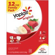 Yoplait Original Strawberry/Strawberry Banana Variety Pack Low Fat Yogurt