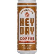 Heyday Coffee, Cold Brew, Espresso, Strong & Smooth