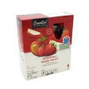 Essential Everyday Strawberry Apple Sauce Fruit Pouch