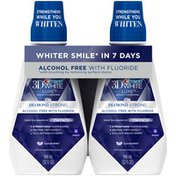 Crest 3D White Luxe Diamond Strong Clean Mint Alcohol Free with Fluoride Mouthwash