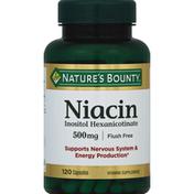 Nature's Bounty Niacin 500mg Capsules - 120 CT