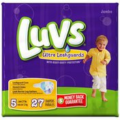 Luvs with Ultra Leakguards Jumbo Pack Size 5 Diapers 27 Count